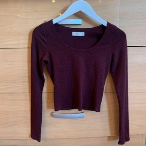 Abercrombie & Fitch | Raised Lace L/S Crop Top